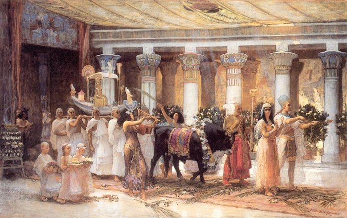Bridgman_F_The_Procession_of_the_Sacred_Bull_Anubis