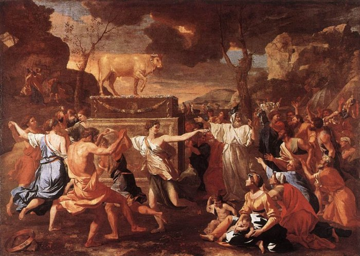 1011px-Nicolas_Poussin_-_The_Adoration_of_the_Golden_Calf_-_WGA18293